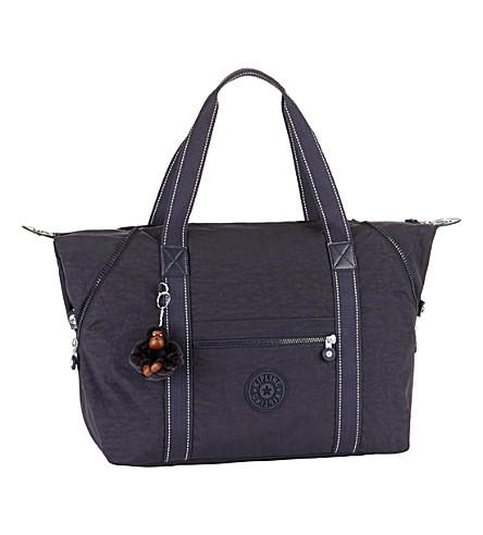 KIPLING Art travel tote bag (Blue+purple+c