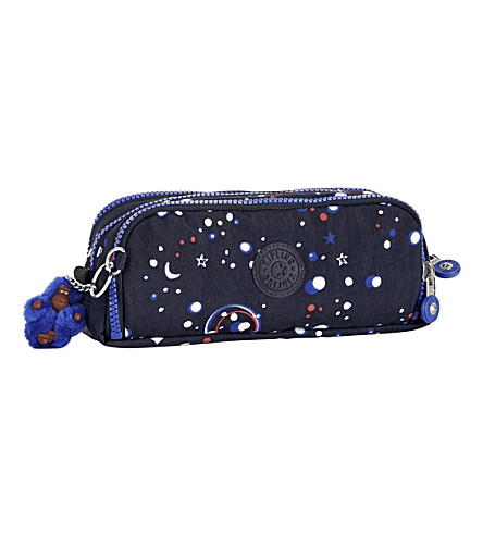 KIPLING Gitroy nylon pencil case (Galaxy+party