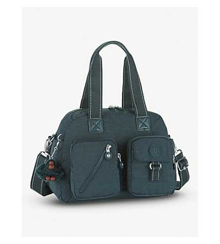 KIPLING Defea nylon shoulder bag (Deep+emerald+c
