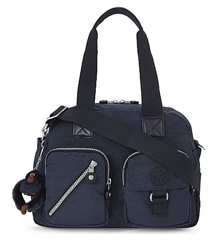 KIPLING Defea zipped woven shoulder bag (Alaskan+blue