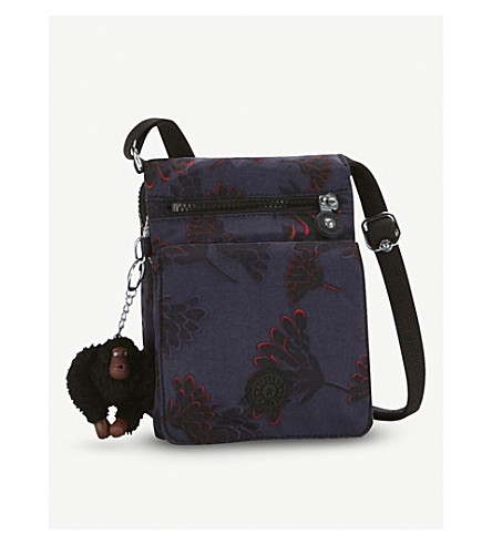 KIPLING Eldorado nylon shoulder bag (Floral+night
