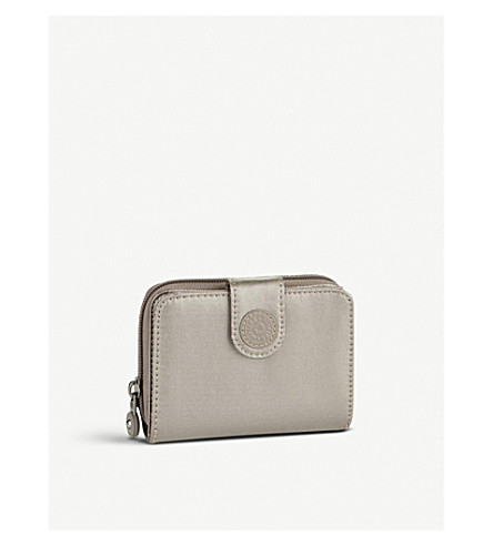 KIPLING New Money medium wallet (Metallic+pewter