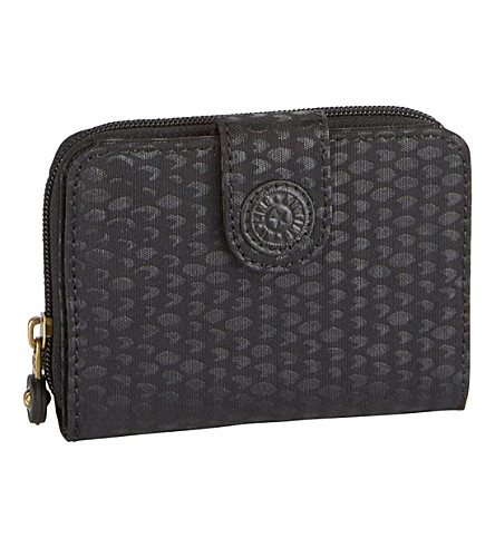 KIPLING New money medium nylon wallet (Black+scale+emb