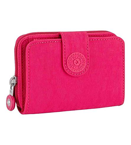 KIPLING New money medium nylon wallet (Cherry+pink+c