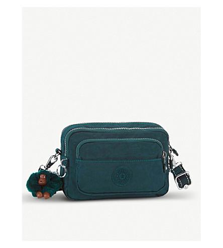 KIPLING Multiple nylon bum bag/shoulder bag (Deep+emerald+c