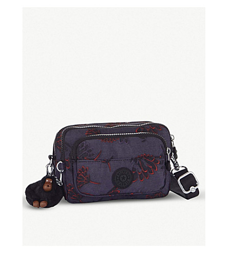 KIPLING Multiple nylon bum bag/shoulder bag (Floral+night