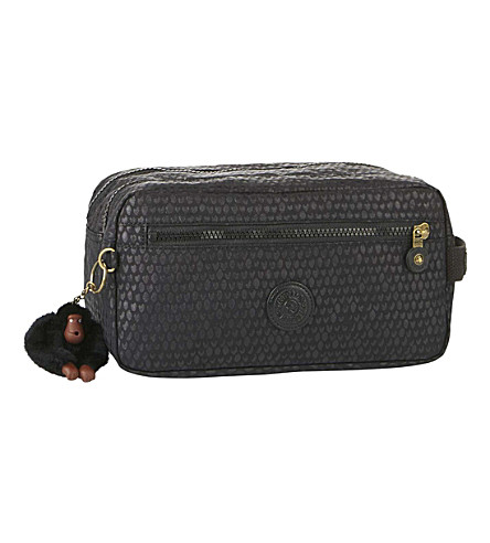 KIPLING Agot water-resistant toiletry bag (Black+scale+emb
