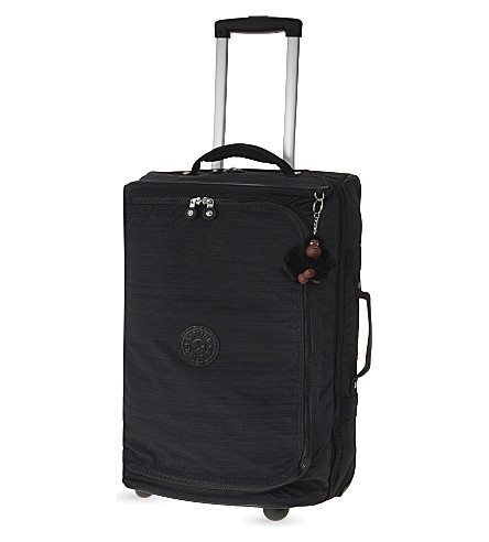 KIPLING Teagan two-wheel cabin suitcase (Dazz+black