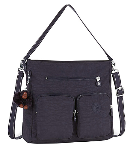 KIPLING Tasmo nylon shoulder bag (Blue+purple+c