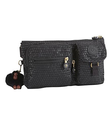 KIPLING Presto nylon bum bag (Black+scale+emb