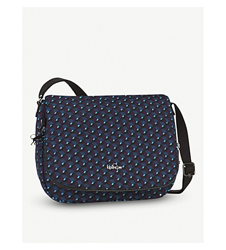 KIPLING Earthbeat geometric medium nylon crossbody bag (Mirage+print