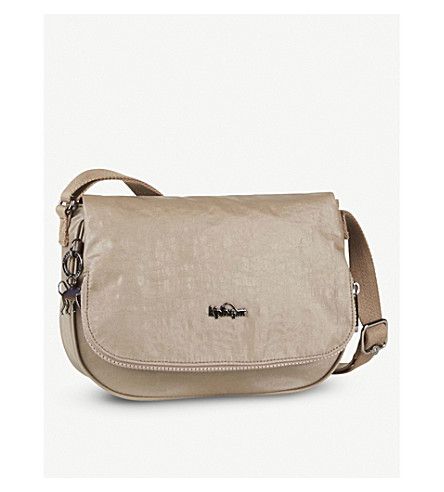KIPLING Earthbeat small nylon crossbody bag (Lacquer+sand
