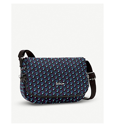 KIPLING Earthbeat geometric small nylon crossbody bag (Mirage+print