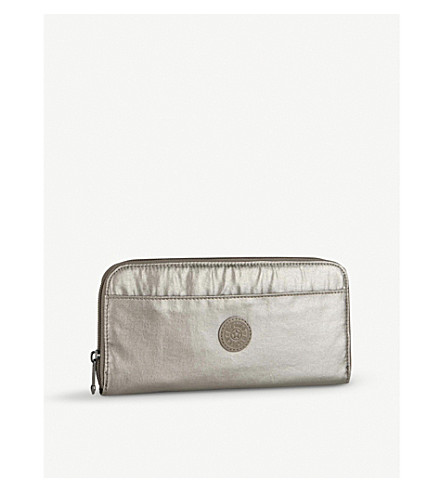 KIPLING Nylon travel document holder (Metallic+pewter