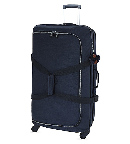 KIPLING Cyrah wheeled nylon suitcase 79cm (Alaskan+blue
