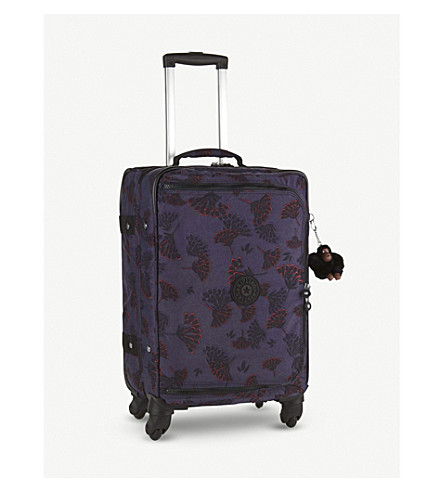 KIPLING Cyrah four-wheel suitcase 55cm (Floral+night