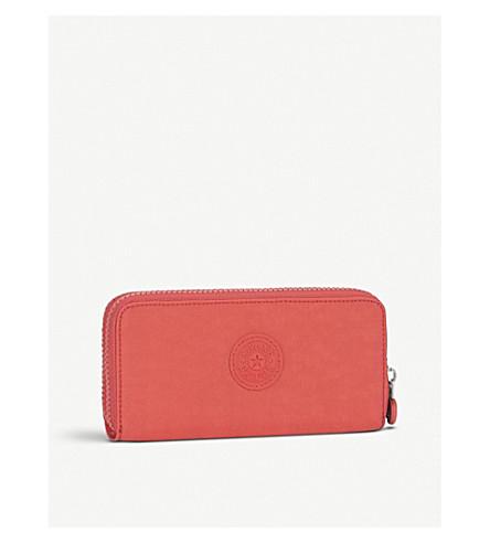 KIPLING Uzario large nylon wallet (Galaxy+orange
