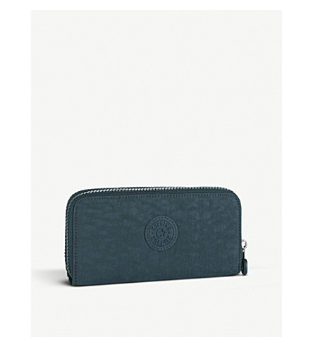 KIPLING Uzario large nylon wallet (Deep+emerald+c