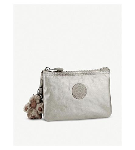 KIPLING Creativity small metallic purse (Metallic+pewter