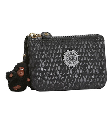 KIPLING Creativity nylon purse (Black+scale+emb