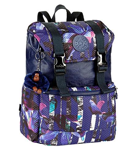 KIPLING Experience patterned nylon backpack (Urban+flower+bl