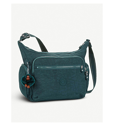 KIPLING Gabbie Essential nylon shoulder bag (Deep+emerald+c