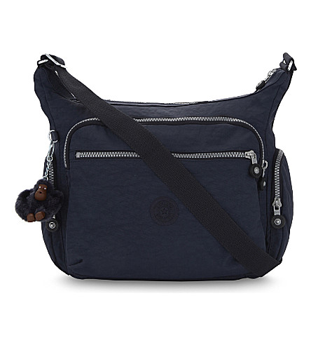 KIPLING Gabbie nylon shoulder bag (Alaskan+blue