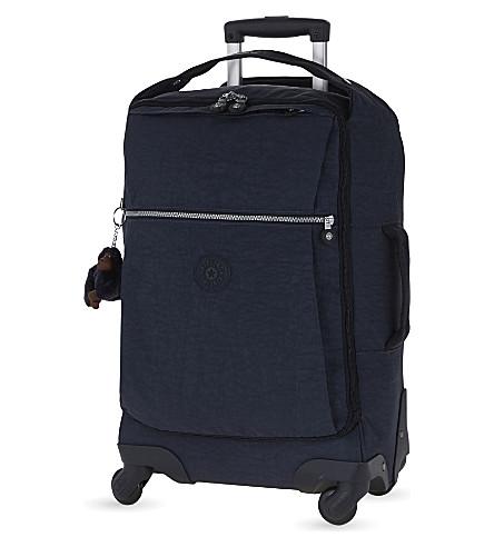 KIPLING Darcey four-wheel cabin suitcase 55cm (Alaskan+blue