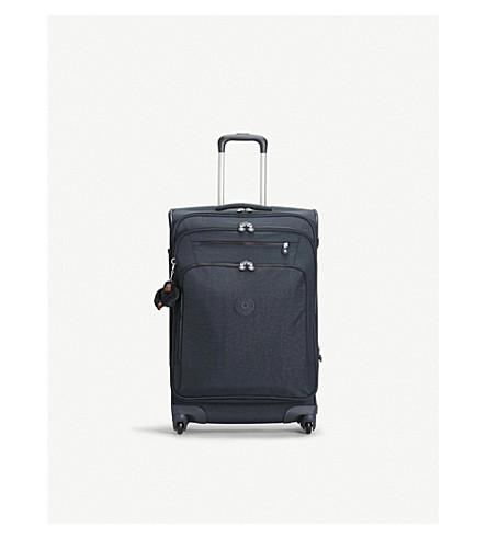 KIPLING Youri medium expandable four-wheel suitcase 68cm (True+navy
