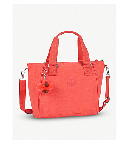KIPLING Amiel nylon medium tote handbag (Galaxy+orange