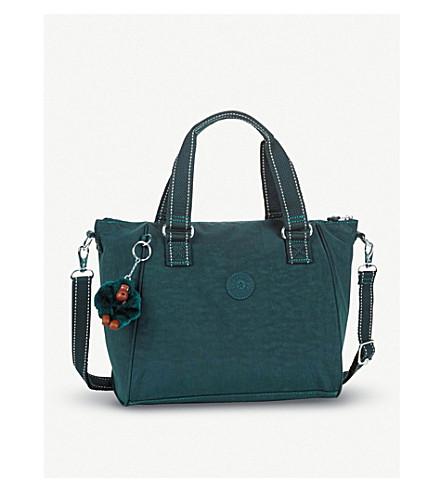 KIPLING Amiel nylon medium tote handbag (Deep+emerald+c