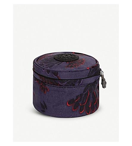 KIPLING Sheena small nylon pouch (Floral+night