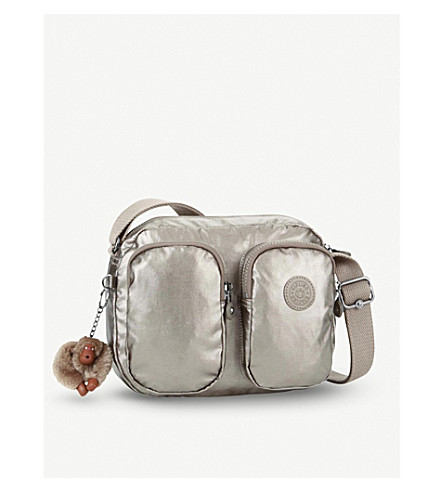 KIPLING Patti nylon small crossbody bag (Metallic+pewter