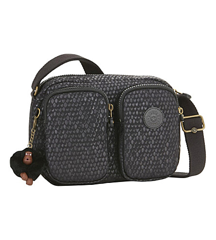 KIPLING Patti small crossbody bag (Black+scale+emb