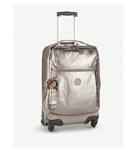 KIPLING Darcey metallic four-wheel suitcase 55cm (Metallic+pewter