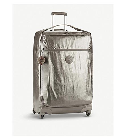 KIPLING Darcey metallic four-wheel suitcase 74cm (Metallic+pewter
