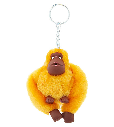 KIPLING Fluffy monkey keyring 8cm (Sunset yellow
