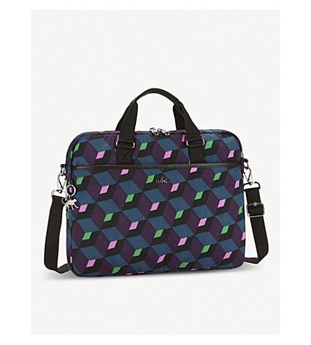 KIPLING Kaitlyn geometric laptop bag (Bold+mirage