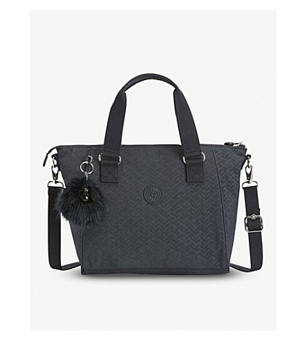 KIPLING Amiel nylon medium tote handbag (Night+blue+emb