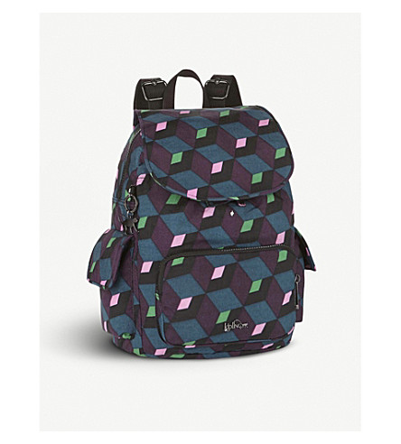 KIPLING City Pack geometric small backpack (Bold+mirage