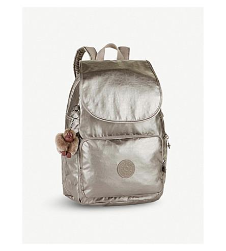 KIPLING Kipling Cayenne small nylon backpack (Metallic+pewter