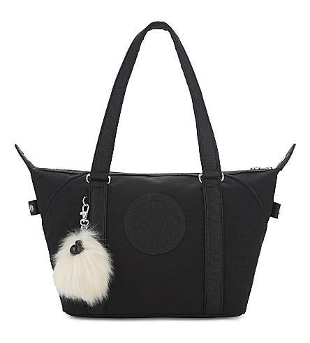 KIPLING Art small nylon tote bag (Black+padded