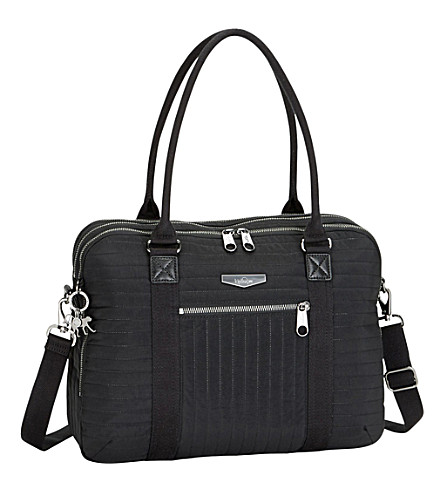 KIPLING Neat padded laptop bag (Bold+black