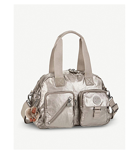 KIPLING Defea nylon shoulder bag (Metallic+pewter