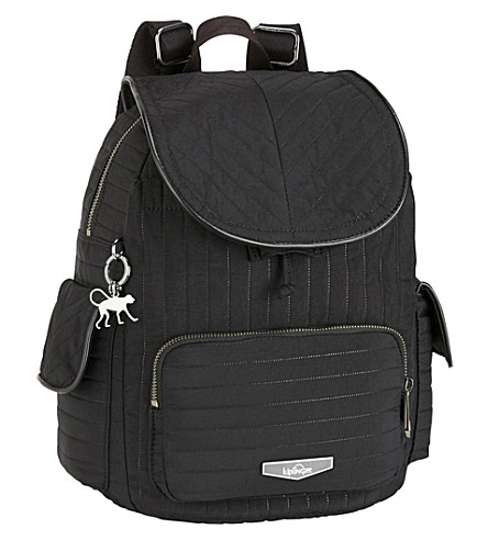 KIPLING City Pack patterned backpack (Bold+black