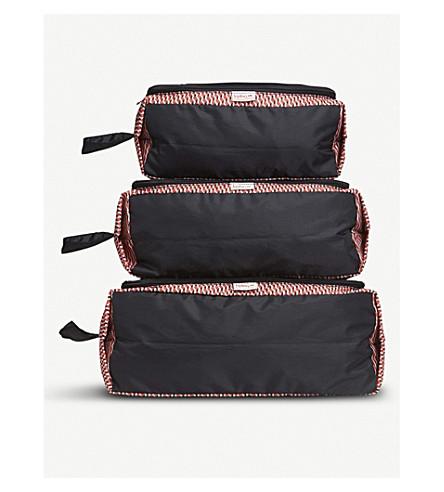 KIPLING Geometric packing pouches set of three (Hybrid+geo+red