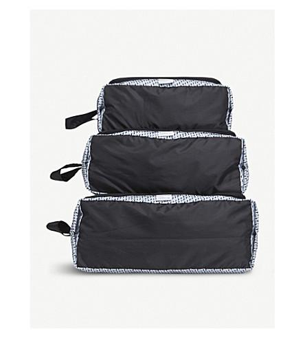 KIPLING Geometric packing pouches set of three (Hybrid+geo