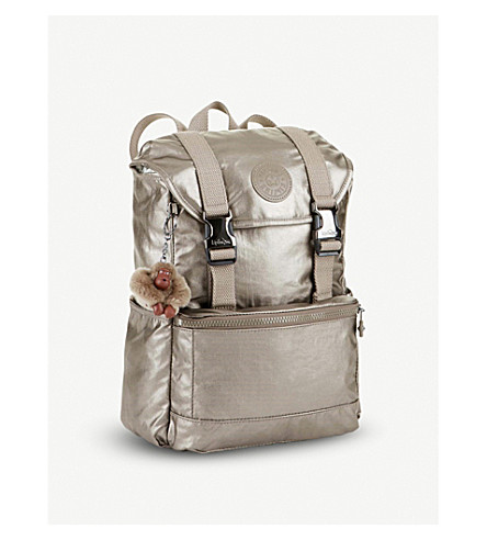 KIPLING Experience small nylon backpack (Metallic+pewter
