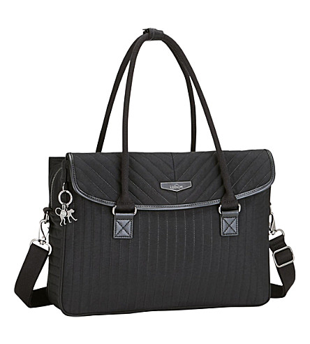 KIPLING Superwork padded laptop shoulder bag (Bold+black