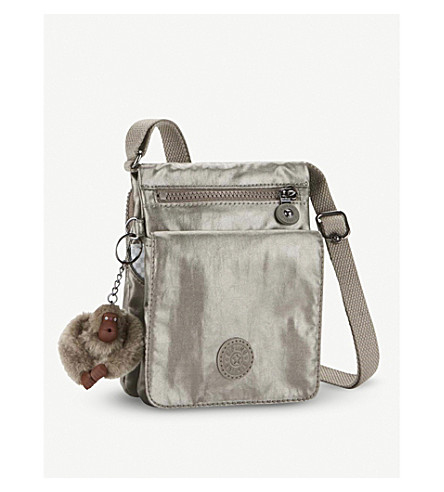 KIPLING Eldorado nylon shoulder bag (Metallic+pewter